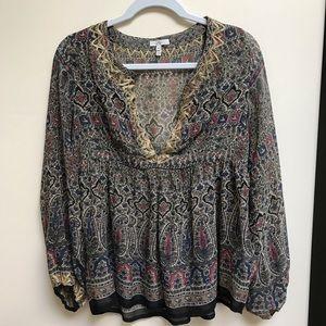 Joie silk Sari style top